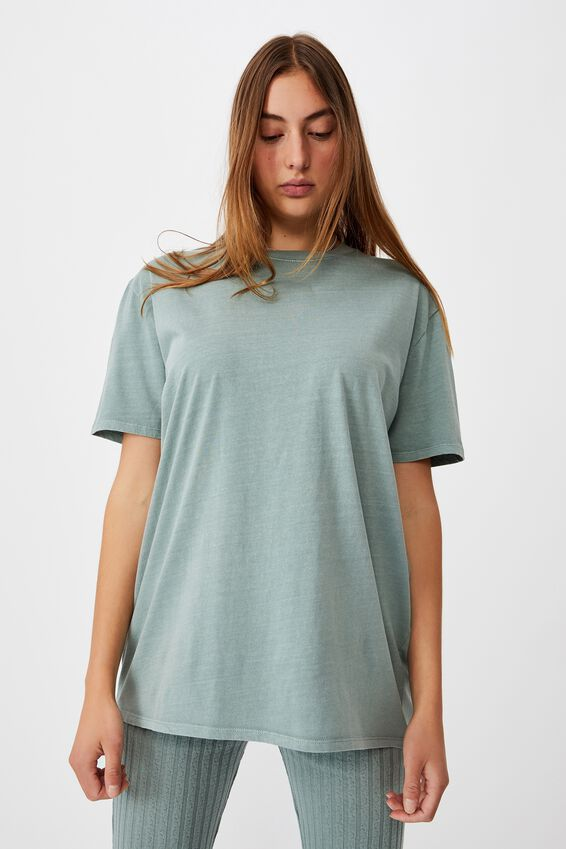 The Oversized Dad Tee, WASHED FALL GREEN