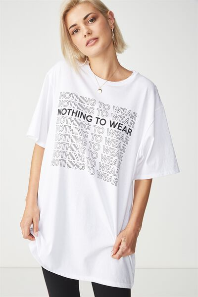 The Graphic Boyfriend Tee, NOTHING TO WEAR/WHITE