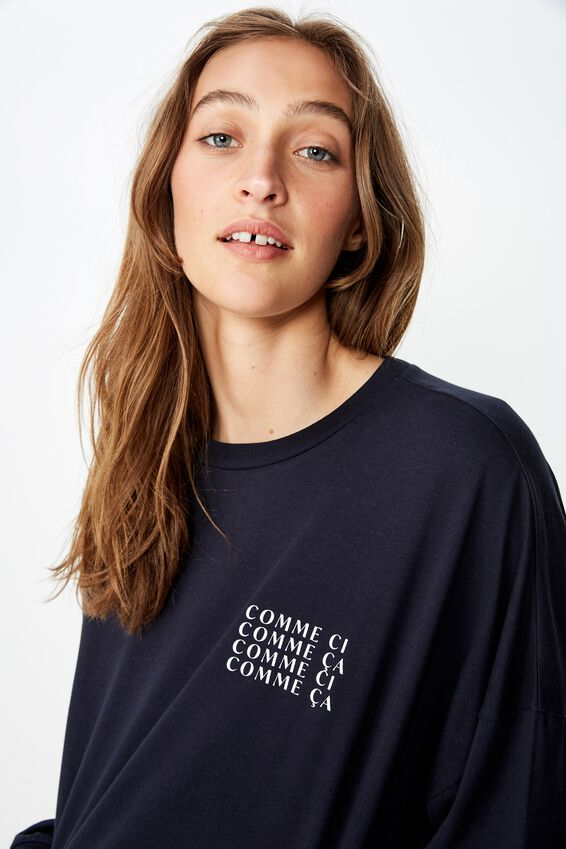 Tbar Brianna Graphic Long Sleeve, COMME CI/MOONLIGHT