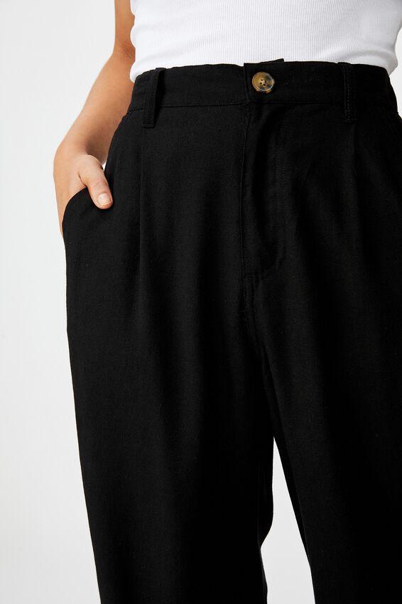 Cindy Wide Leg Pant, BLACK