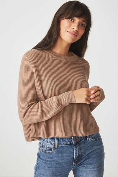 Archy Cropped 2 Pullover, PORTABELLA