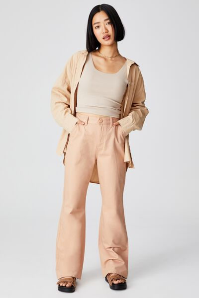 Petite Parker Long Straight Pant, SANDY PINK