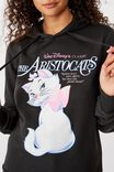 Demi Graphic Hoodie, LCN DIS ARISTOCATS/WASHED BLACK