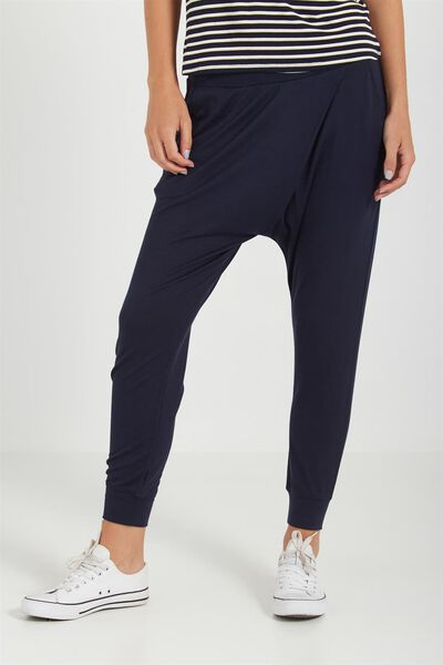 Relaxed Wrap Jersey Pant, MOONLIGHT
