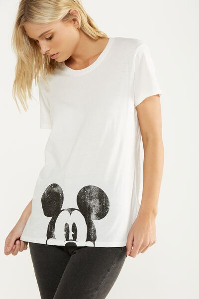 Tbar Fox Graphic T Shirt, LCN MICKEY PEEPING/GARDENIA