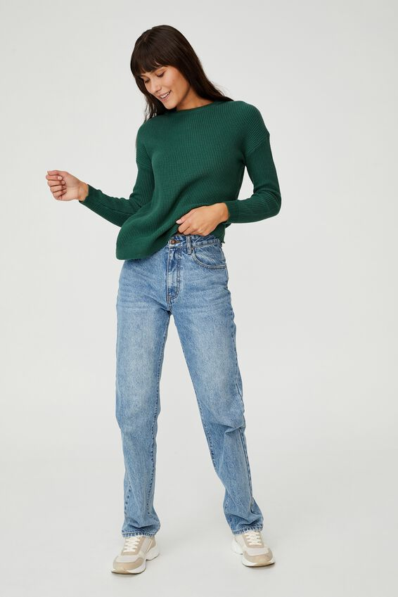 Cotton Pullover, WILLOW GREEN