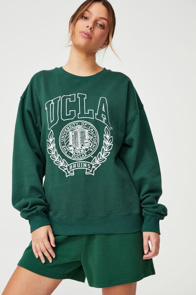 Collab Classic Crew, LCN HERITAGE GREEN/UCLA SEAL WHITE