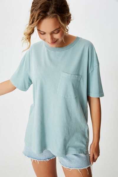 The One Boyfriend Crew Tee, WASHED CLOUD BLUE