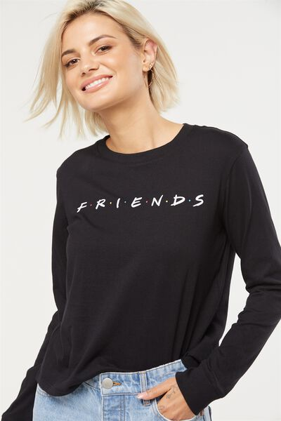 Tbar Tammy Chopped Graphic Long Sleeve Tee, LCN FRIENDS/BLACK