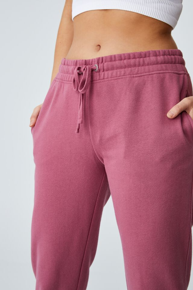 Slim Fit Trackpant, WINTER BERRY