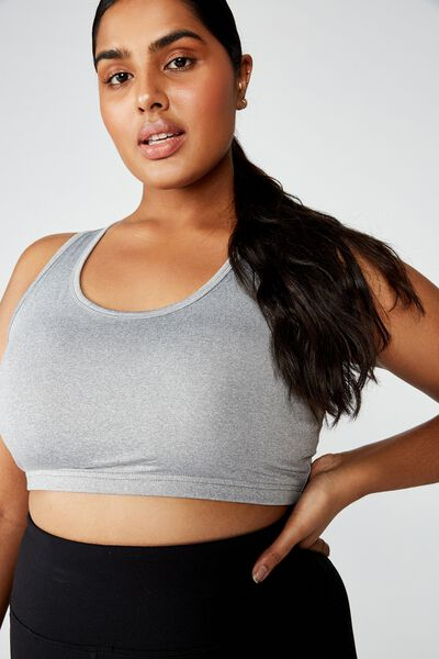 Curve Workout Cutout Crop, MID GREY MARLE