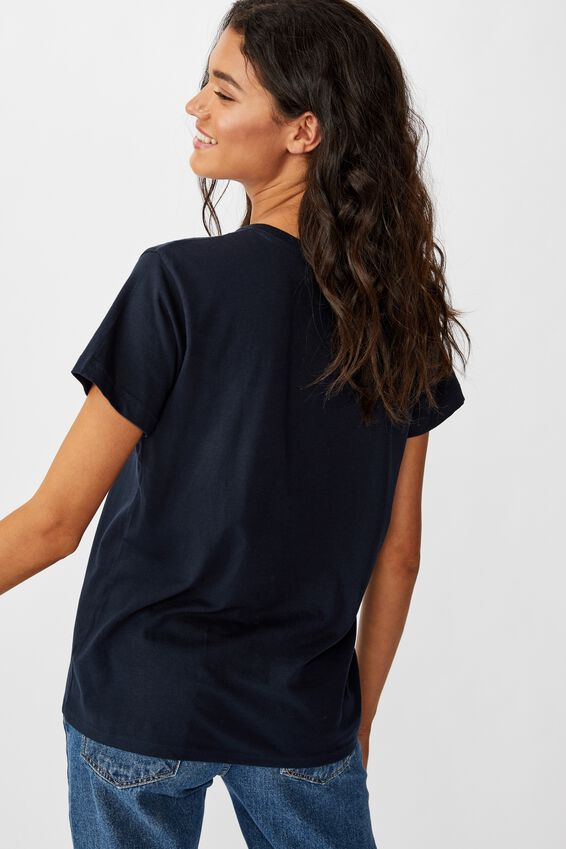 Classic Slogan T Shirt, CHERIE/WASHED MOONLIGHT