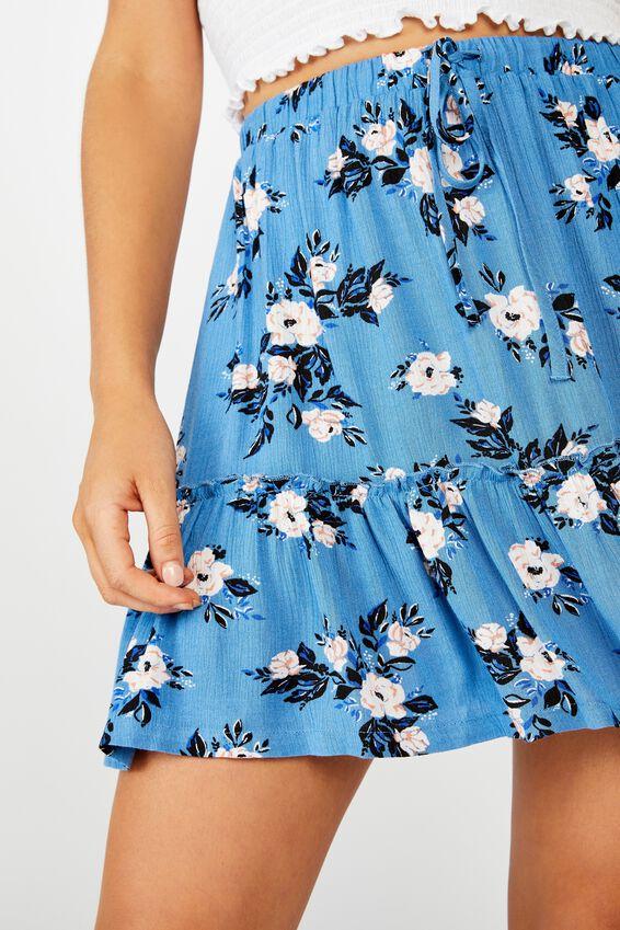 Penny Tiered Mini Skirt, LIBBY ROSE PARISIAN BLUE