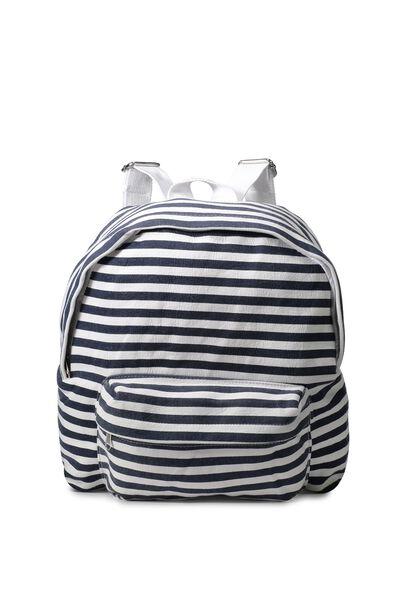 Day Dreaming Backpack, NAVY/CREAM STRIPE