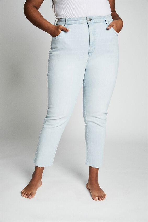 Curve Taylor Mom Jean, BONDI BLUE FRAY
