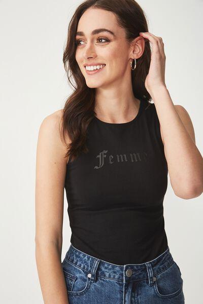 Giselle Graphic Bodysuit, FEMME/BLACK
