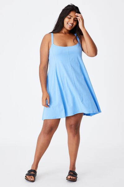 Curve Turner Strappy Mini Dress, COLLEGIATE BLUE