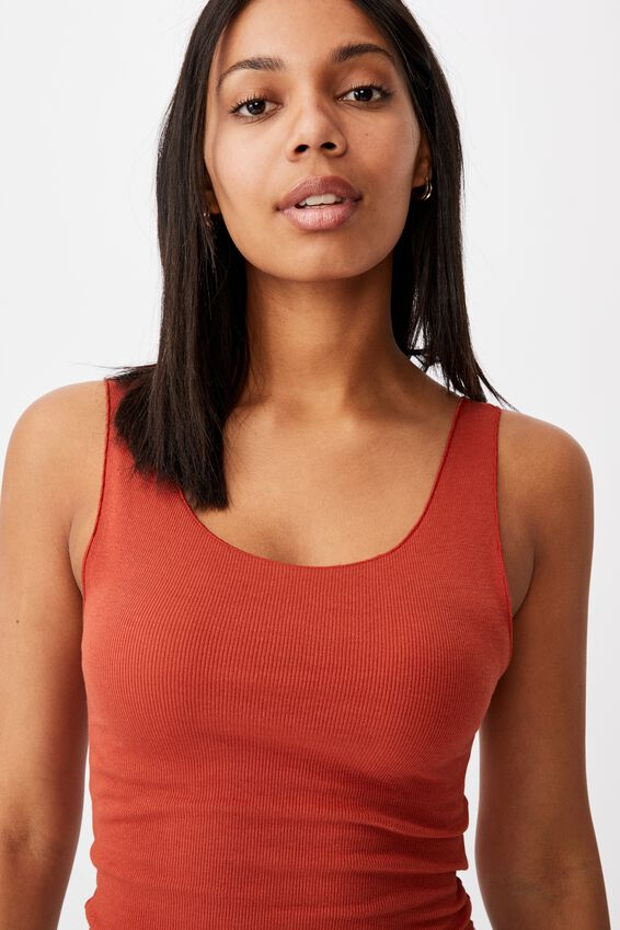 Kerr Tank Top, RED CLAY