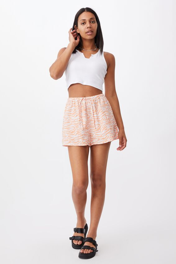 Cali Pull On Short, ELLA ZEBRA MELON
