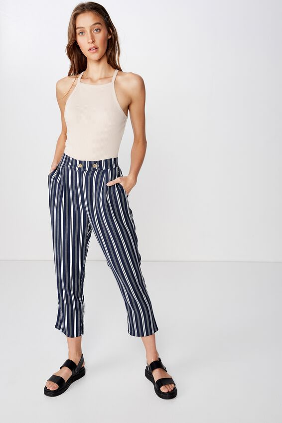 Ava Tapered Pant, MAYA MULTI STRIPE MOOD INDIGO