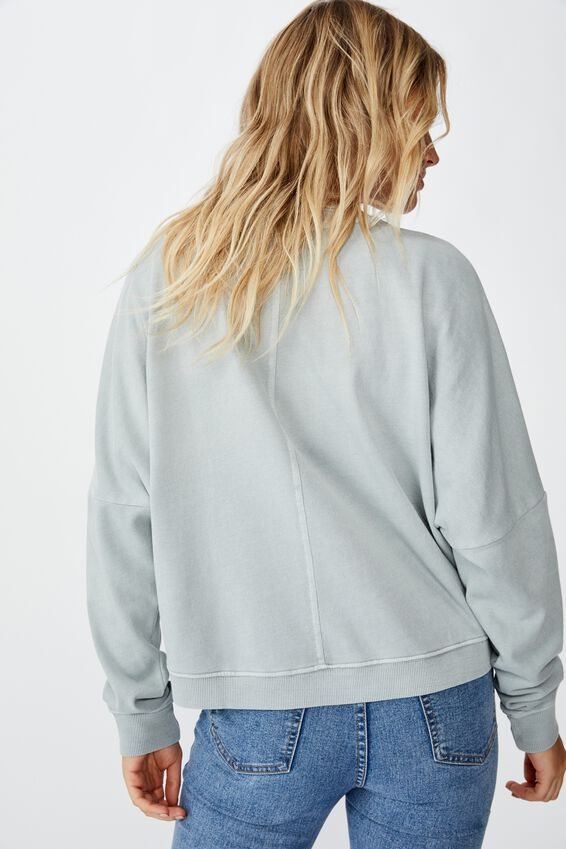 Harper Boxy Crew Fleece, HIGH RISE PIGMENT DYE