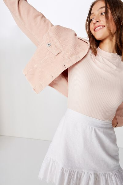 O The Girlfriend Long Sleeve Top, PINK SAND