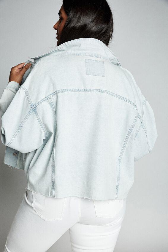 Curve 90S Baggy Denim Jacket, FADED BLUE