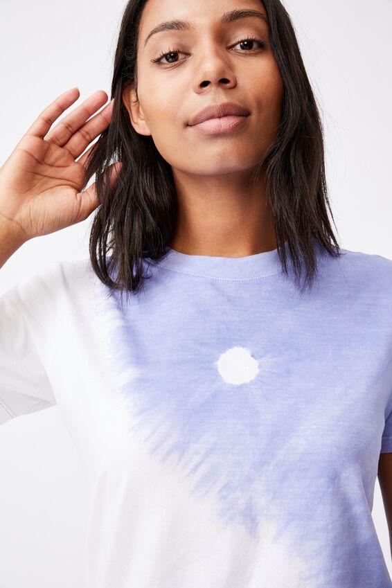 Classic Arts T Shirt, YIN YANG/DUSK BLUE TIE DYE