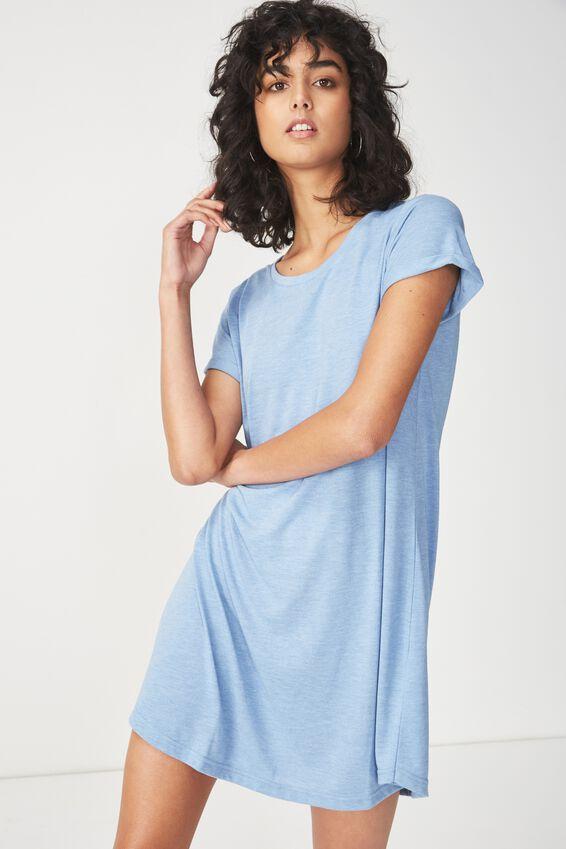 Tina Tshirt Dress 2, PRAIRE BLUE MARLE
