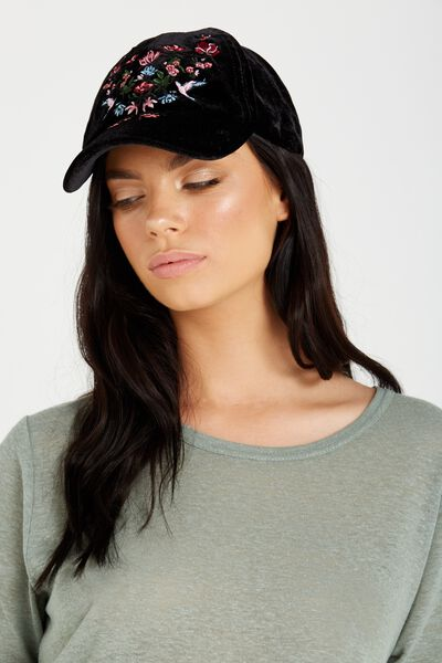 Essential Cap, BLACK VELVET/EMB