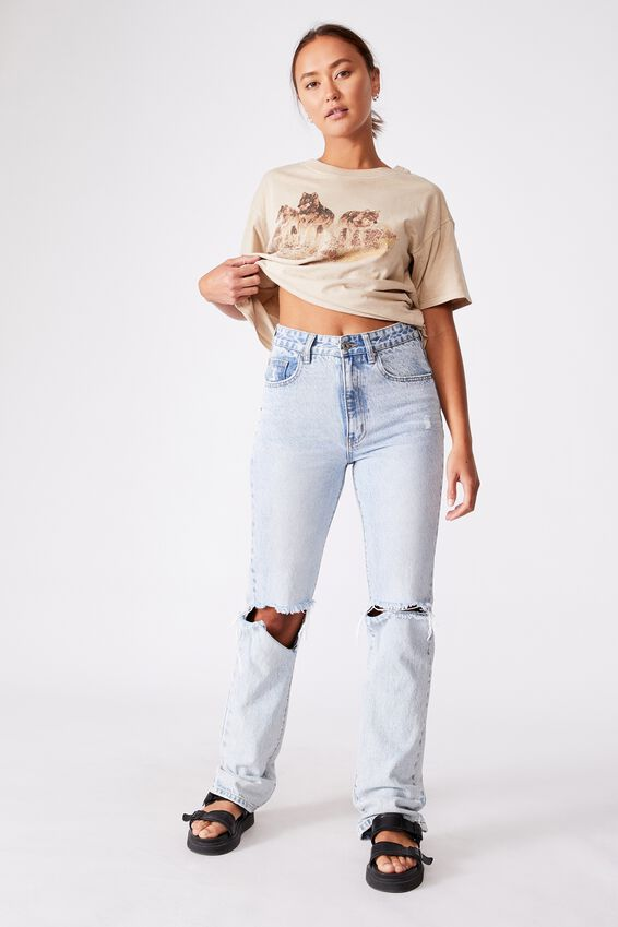 The Original Graphic Tee, WOLF PACK/LATTE