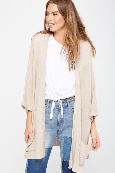 Ella Kimono Sleeve Ete Cardigan, OAT