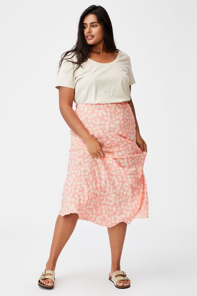 Curve All Day Slip Skirt, SALLY DAISY PEACH PALM