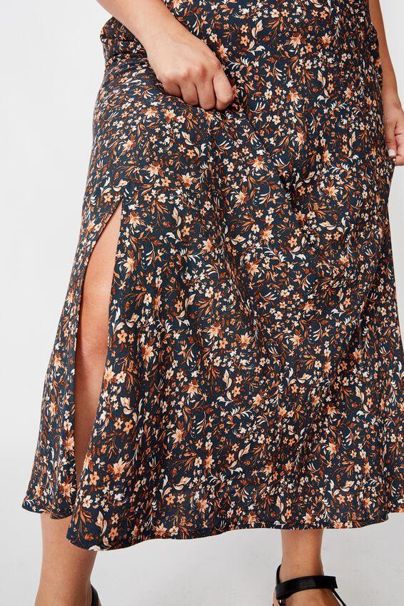 Curve 90S Slip Skirt, ALMA FLORAL MIDNIGHT NAVY
