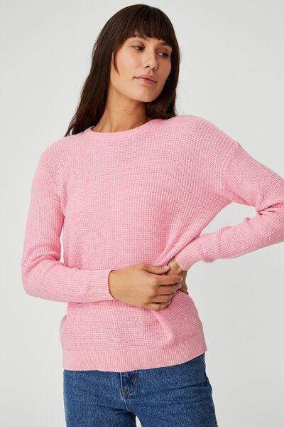 Cotton Pullover, RASPBERRY SODA PINK GLOW TWIST