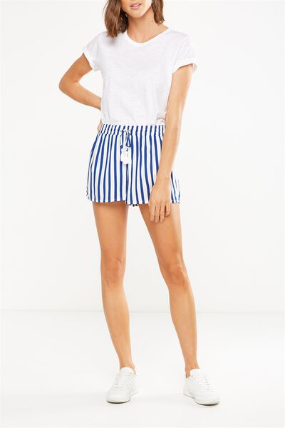 Lana Short, LUCY STRIPE MONACO BLUE