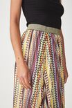 Woven Daria Pleated Midi Skirt, HOLLY ZIG ZAG MULTI