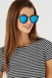 Gigi Cat Eye Sunnies, TORT/GREEN BLUE REVO