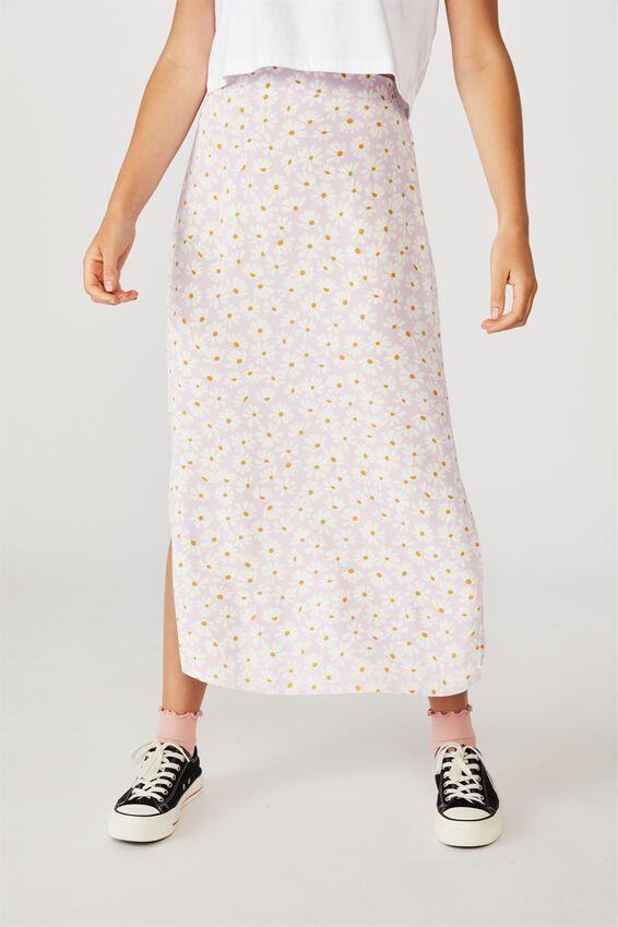 90S Slip Skirt, AVA DAISY ORCHID