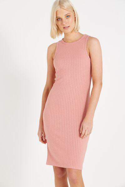 Lena Midi Dress, PINK HAZE TWIST