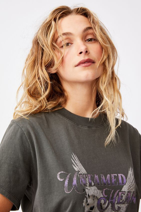 Classic Arts T Shirt, UNTAMED HEART/SLATE GREY