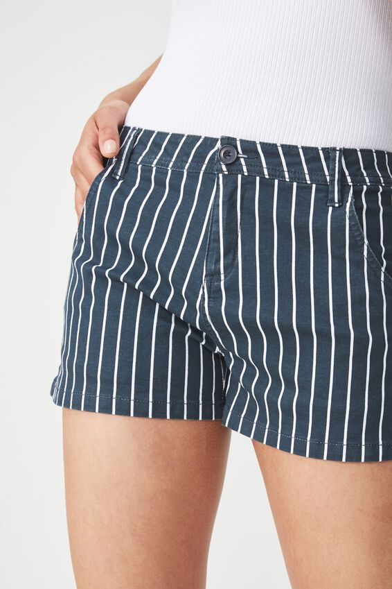 Panel Pocket Chino Short, SAM VERTICAL STRIPE TOTAL ECLIPSE
