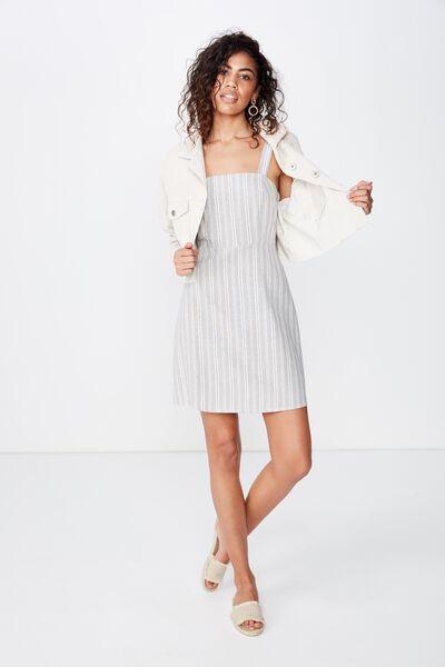 96fea13c9af71 Woven Krissy Dress, MAYA MULTI STRIPE SLEET. Cotton On Women