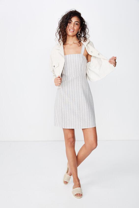 Woven Krissy Dress, MAYA MULTI STRIPE SLEET