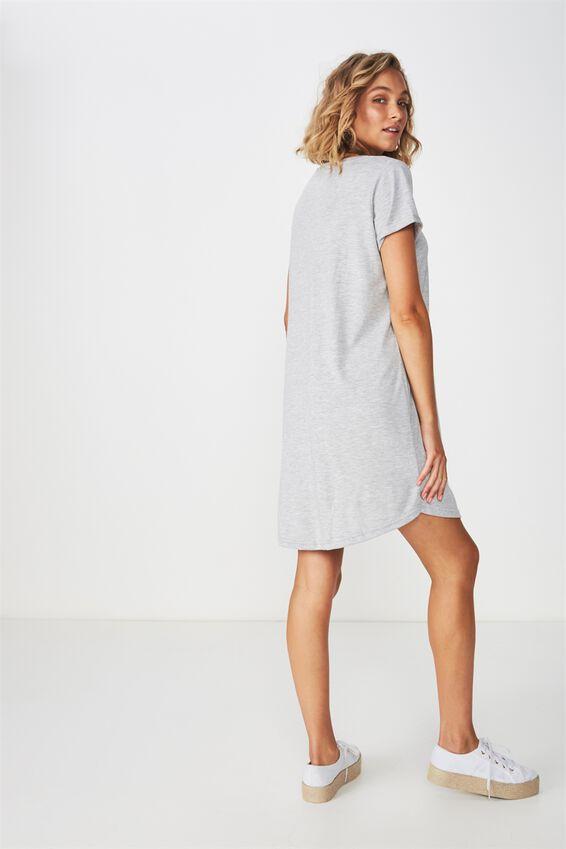 Tina Tshirt Dress 2, GREY MARLE