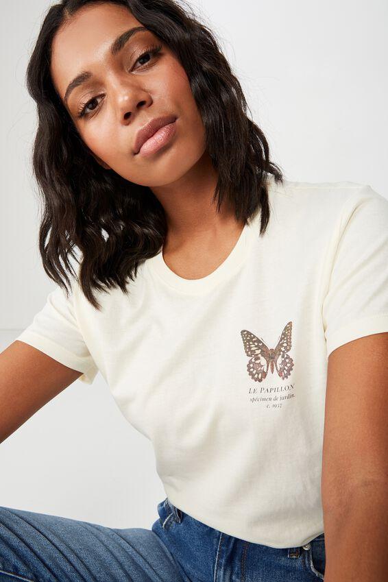 Classic Arts T Shirt, LE PAPILLION/EGGNOG