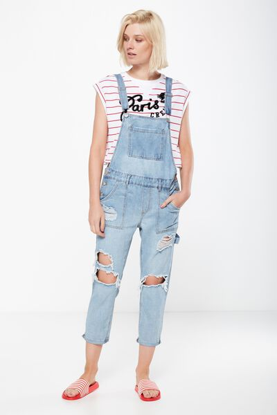 The Slim Overall, LIGHT BLUE RIPS