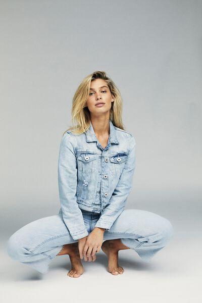 Girlfriend Denim Jacket, NEW BRIGHT BLEACH