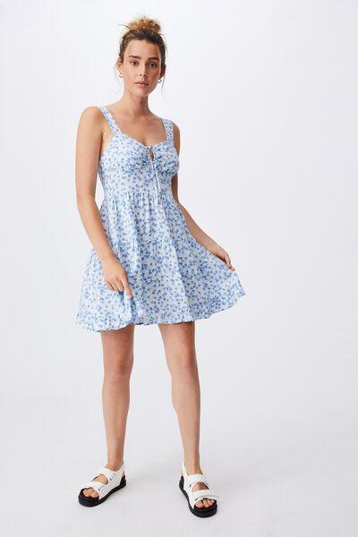 Woven Sandy Skater Dress, KENDELLE DITSY AUTHENTIC BLUE