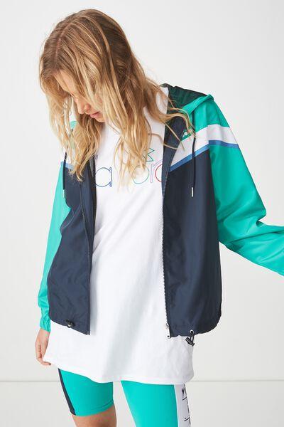 Diadora Spliced Jacket, TOTAL ECLIPSE/VIVID GREEN